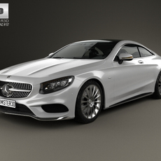 Mercedes-Benz S-Class 63 AMG (C217) coupe Sports 2014 3D Model