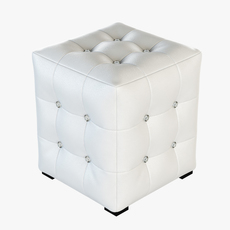 Ottoman with rhinestones 3D Model