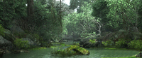 Creek through the primeval forest 3D Model
