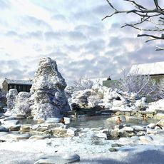 Snow spa scene 3D Model