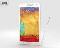 Samsung Galaxy Note 3 Rose Gold White 3D Model