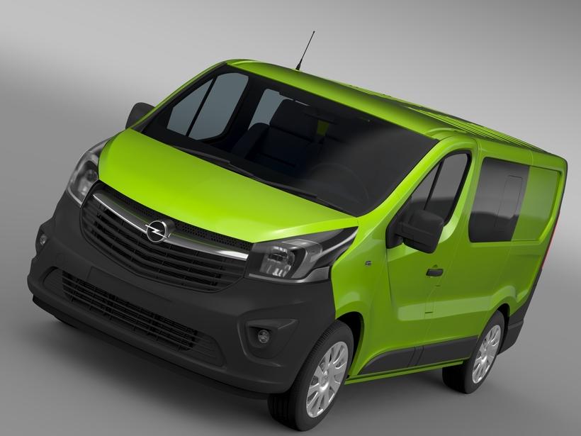 Opel Vivaro MultiVan EcoFlex 2015 3D Model