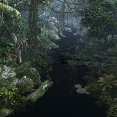 Forest mountain creek 3D Model