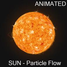Sun - Particle Flow 3D Model