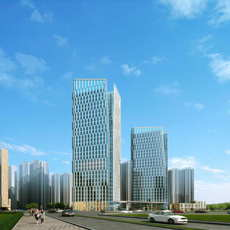 Skyscraper Office Building 091 3D Model