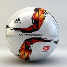 Adidas Torfabrik 2016 Bundesliga Official match ball 3D Model