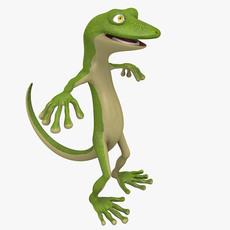 Cartoon Gecko 3D Model