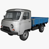 UAZ 452D Truck 3D Model