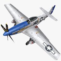 P51D Mustang 3D Model