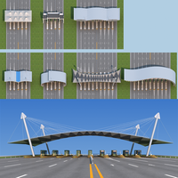Highway toll station 3D Model
