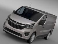 Opel Vivaro Van 2015 3D Model