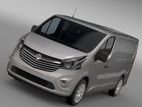 Vauxhall Vivaro Van Biturbo 2015 3D Model