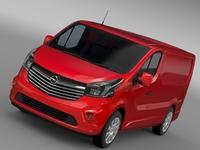 Opel Vivaro Van Biturbo 2015 3D Model