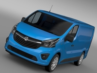 Vauxhall Vivaro Van 2015 3D Model