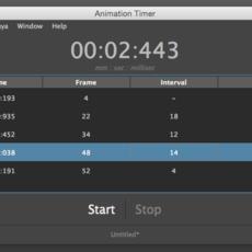 Animation Timer for Maya 1.4.2 (maya script)
