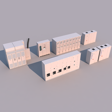 Equipment cabinet 3D Model