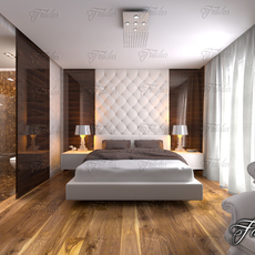 Bedroom 12 + Bath 3D Model