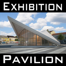 Expo Pavilion at City Plaza 3D Model