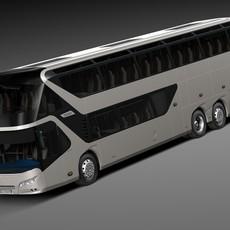 Neoplan Skyliner 2015 Coach Bus 3D Model