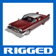 Plymouth Fury 1958 Sport Coupe & Convertible Rigged 1.0.0 for Maya