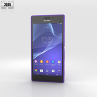 Sony Xperia M2 Purple 3D Model