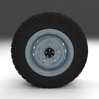 Offroad Wheel 3D Model