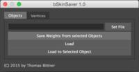 bSkinSaver 1.1.0 for Maya (maya script)