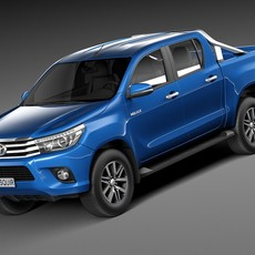 Toyota Hilux Double Cab 2016 3D Model