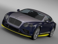 Bentley Continental GT Speed Breitling Jet Team Series 2016 3D Model