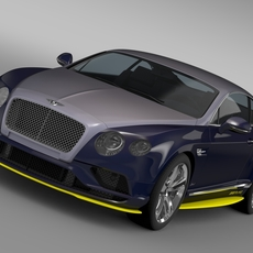Bentley Continental GT Speed Breitling Jet Team Series 2016 3D Model