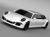 Porsche 911 Carrera 4 GTS Limousine 2016 3D Model