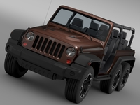Jeep Wrangler Rubicon 6x6 2016 3D Model