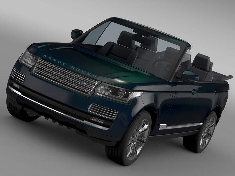 Range Rover Autobiography Black LWB Cabrio L405 2016 3D Model