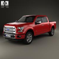 Ford F-150 Super Crew Cab Platinum 2014 3D Model