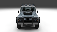 Land Rover Defender 110 Utility Station Wagon w interior 3D Model
