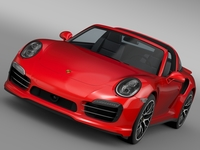 Porsche 911 Turbo S Targa 991 2016 3D Model