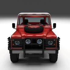 Land Rover Defender 110 Pick Up w interior 3D Model