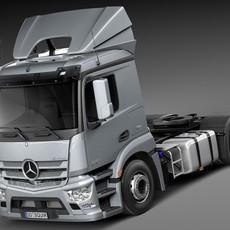 Mercedes Antos 2015 Semi Truck 3D Model