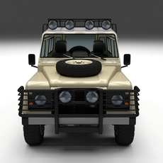 Land Rover Defender 110 Station Wagon w interior 3D Model