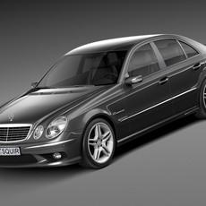 Mercedes-Benz E55 AMG W211 2002-2009 3D Model