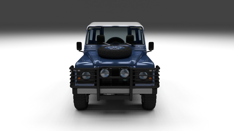 Land Rover Defender 90 Hard Top w interior 3D Model