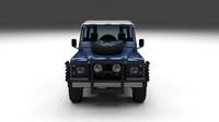 Land Rover Defender 90 Hard Top w interior 3D Model