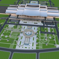 XiaMen railway Station 3D Model
