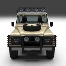 Land Rover Defender 110 Double Cab Pick Up w interior 3D Model