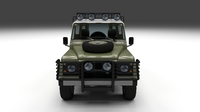 Land Rover Defender 110 Hard Top w interior 3D Model