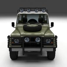 Land Rover Defender 110 Hard Top w interior 3D Model