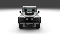Land Rover Defender 90 Pick Up w interior 3D Model