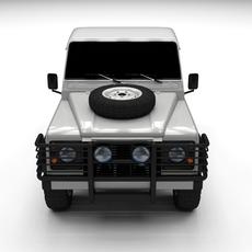 Land Rover Defender 90 Pick Up 3D Model