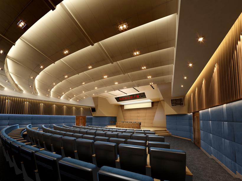 Auditorium room 017 3D Model