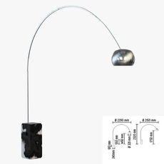 Floor lamp FLOS Arco 3D Model